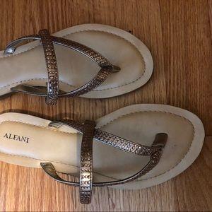 Alfani gold sandals. Worn one night. Size 8